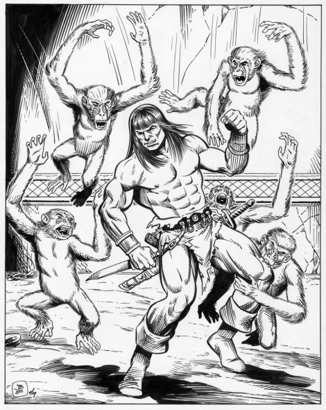 Conan the Buccaneer Game Module Interior Pencils 1985
