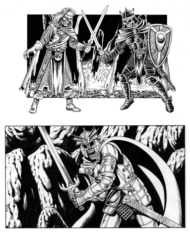 Death Knights Various Brush and Ink 1992