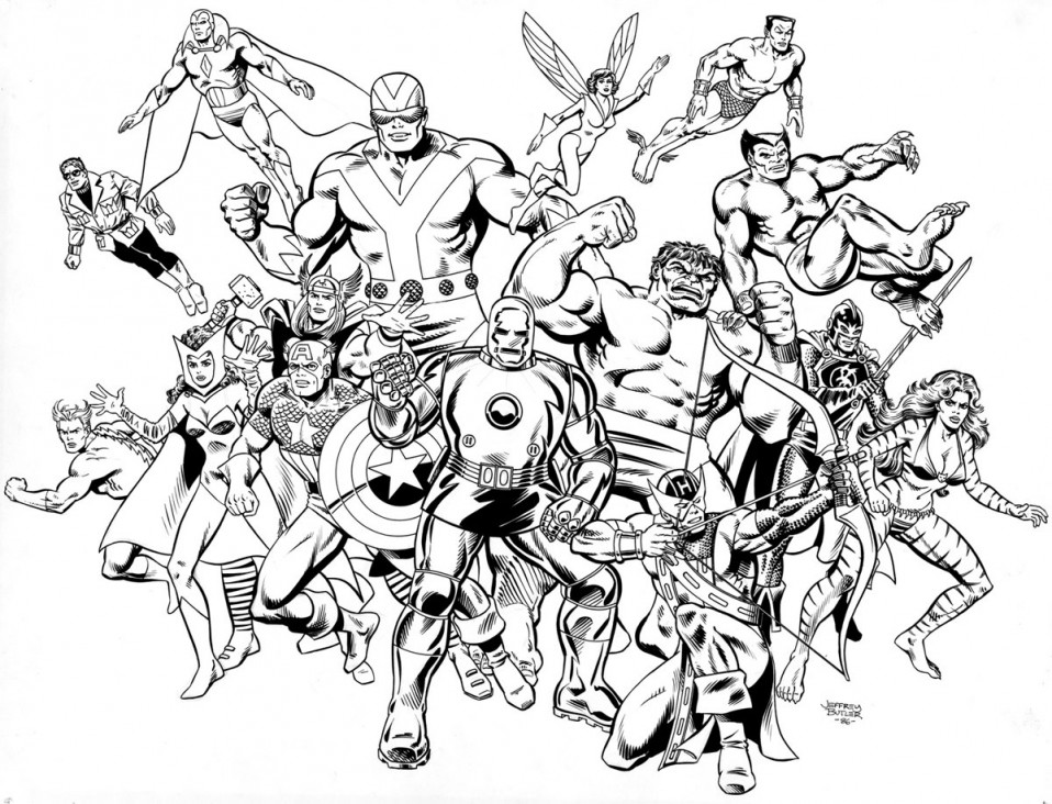 Avengers: Coast to Coast! TSR, Inc. Brush and Ink 1984