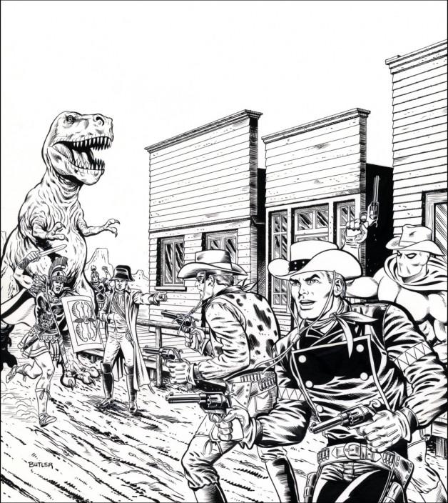 The Weird, Weird West TSR, Inc. Brush and Ink 1989