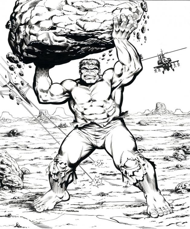 Hulk Frame Tray Puzzle Western Publishing Brush and Ink 1990