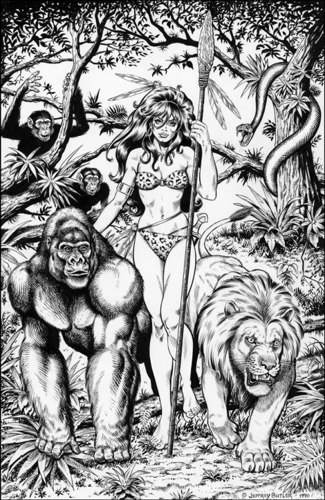 Jungle Princess Personal Collection Brush and Ink 1990