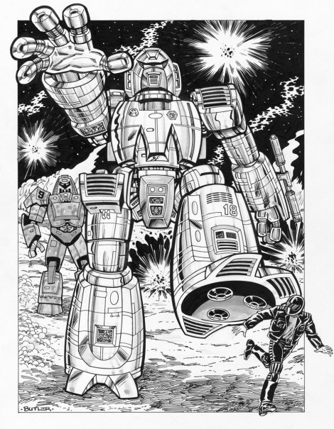Giant Robots! Capital City Distributors Brush and Ink 1985