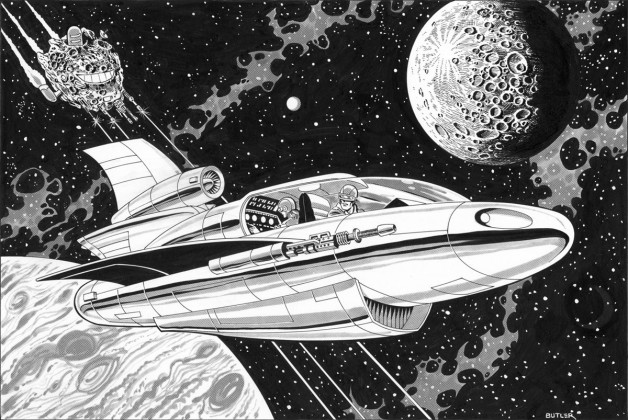 Buck Rogers in the 25th Century TSR, Inc. Brush and Ink 1989