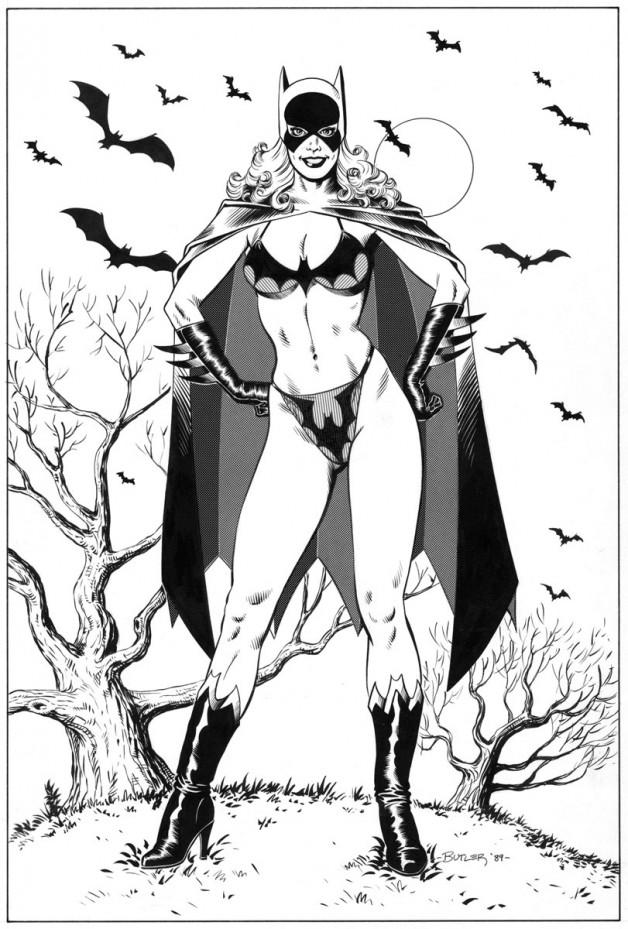 Swimsuit Issue – Batgirl! Amazing Heroes Magazine Brush and Ink 1989