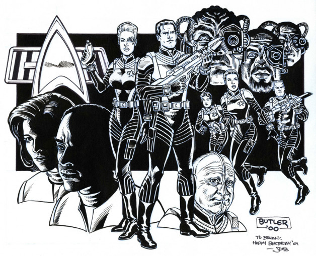 Star Trek Voyager: Elite Force Raven Software / Wildstorm Brush and Ink 2000