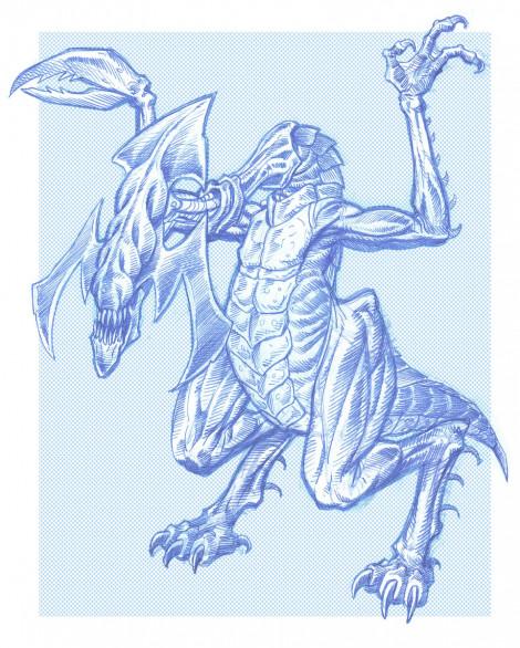 Terror Creature Design Pencil & Photoshop 2003