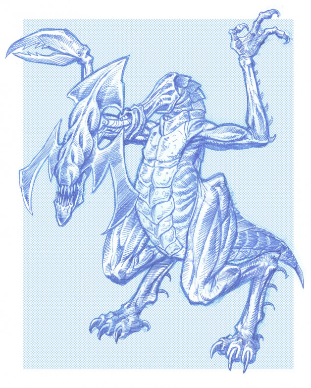 Terror Creature Design Pencil & Photoshop 2003