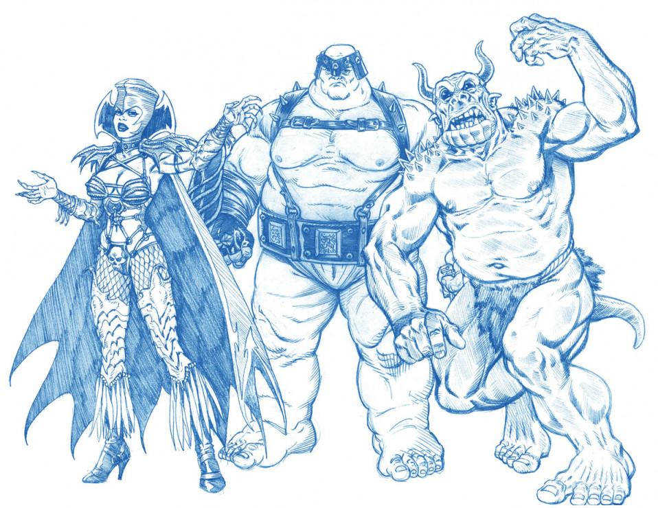 X-Men Legends  Character Designs Blue Pencil 2003