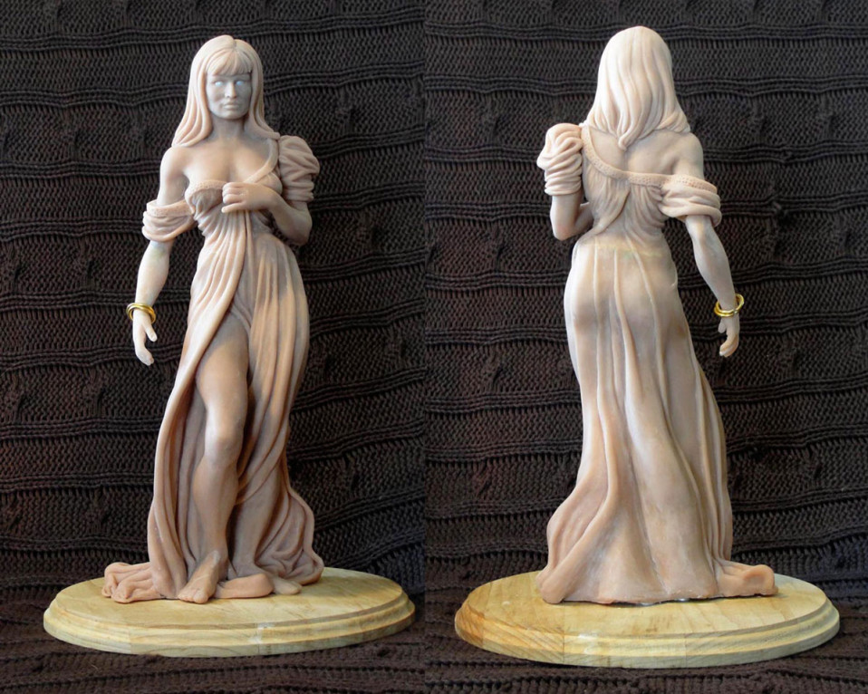 Jennifer 1/6 Scale Sculpture Super Sculpey 2010