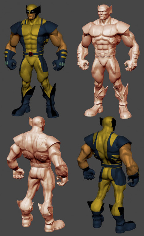 Wolverine Character Design ZBrush 2009