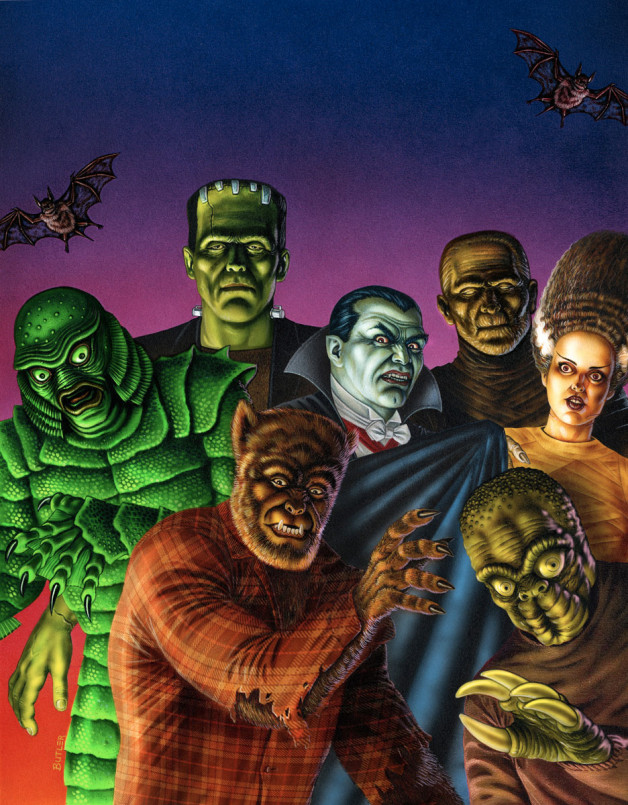 Universal Monsters  Avalon Portfolio Airbrush & Colored Pencil 1990