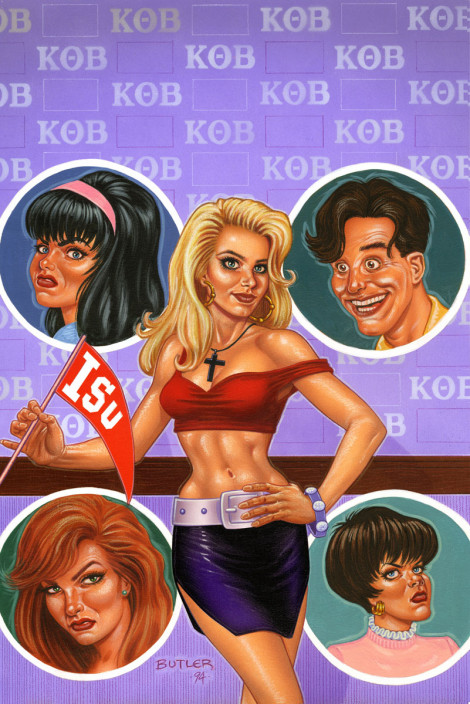 Kelly goes to Kollege NOW Comics Airbrush & Colored Pencil 1994
