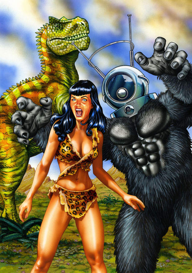 Bettie in Creepsville GoGo Comics Airbrush & Colored Pencil 1991