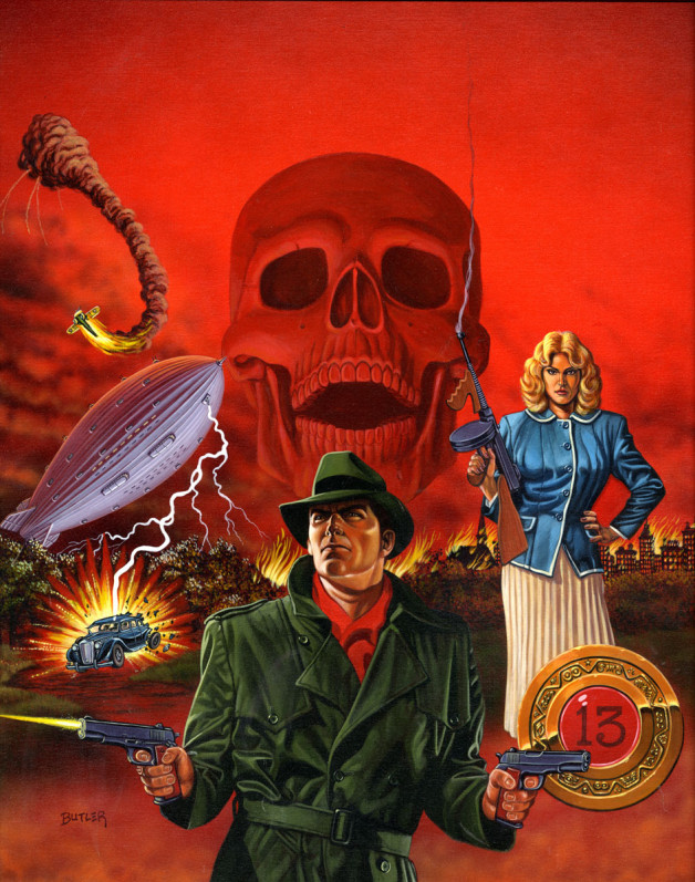 Agent 13 Graphic Novel cover TSR, Inc. Acrylic on board 1987