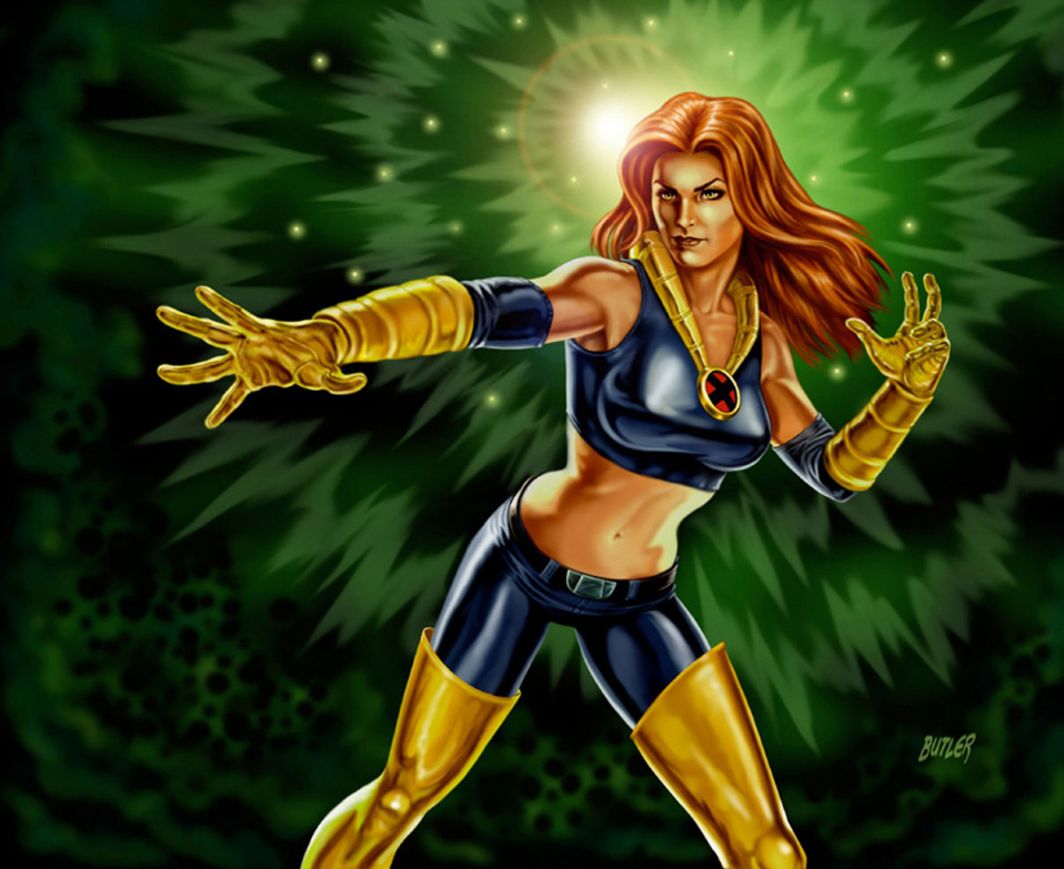 Jean Grey X-Men Legends II  Digital Painting 2005