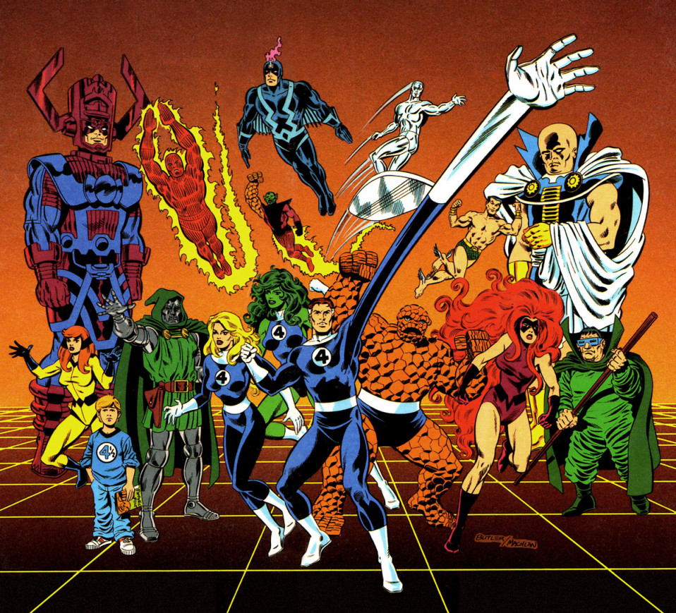 Fantastic Four Compendium Book Brush, Ink, Acrylics and Cell Vinyl 1987